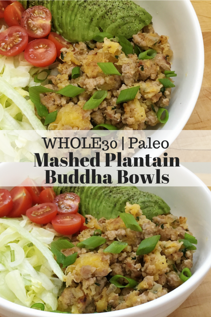Mashed Plantain Buddha Bowls
