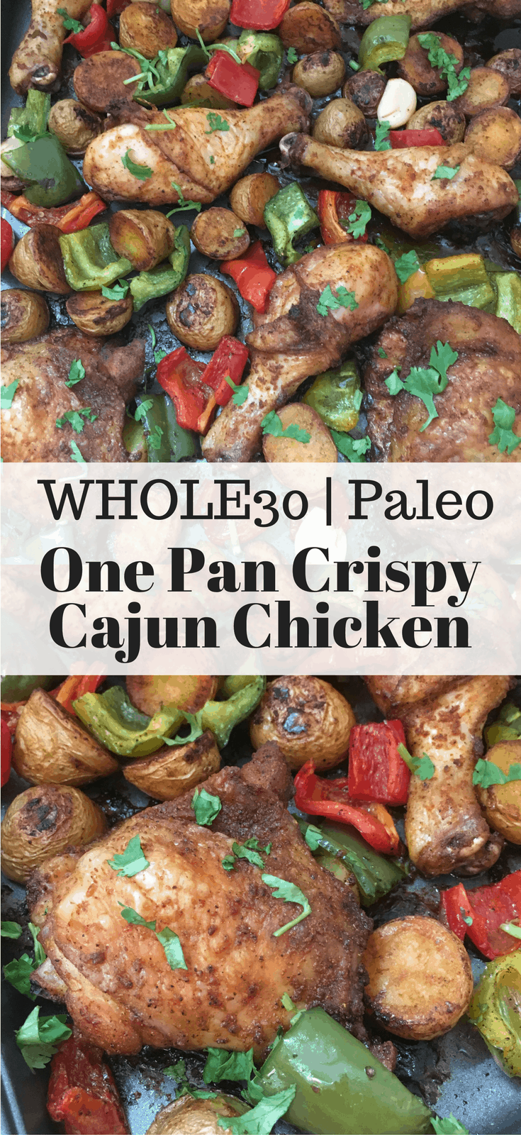 One Pan Crispy Cajun Chicken