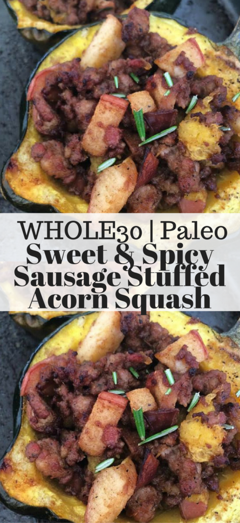 Sweet & Spicy Sausage Stuffed Acorn Squash