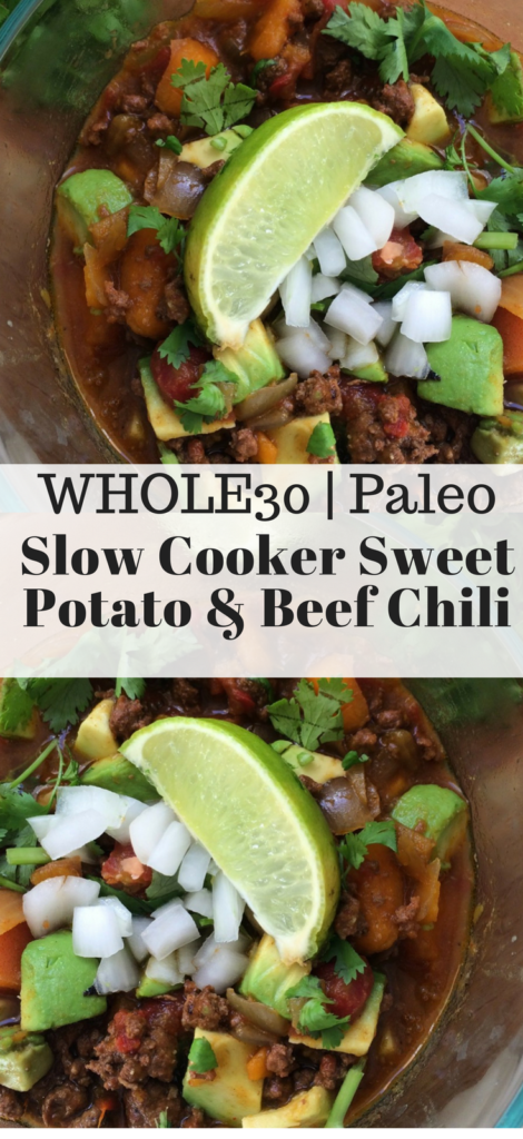 Slow Cooker Sweet Potato and Beef Chili