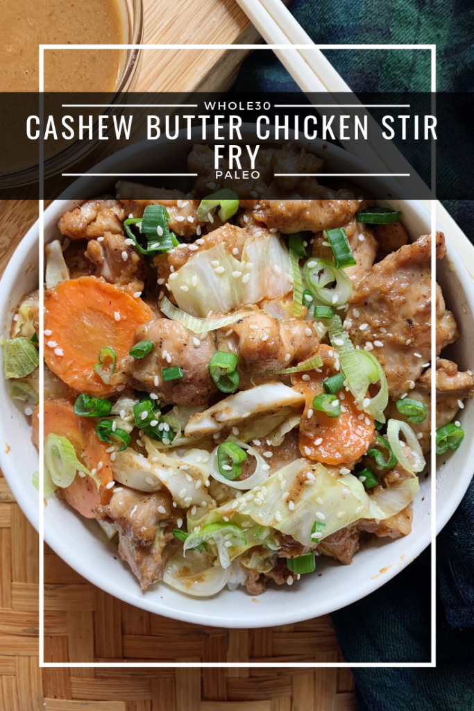 Cashew Butter Chicken Stir Fry