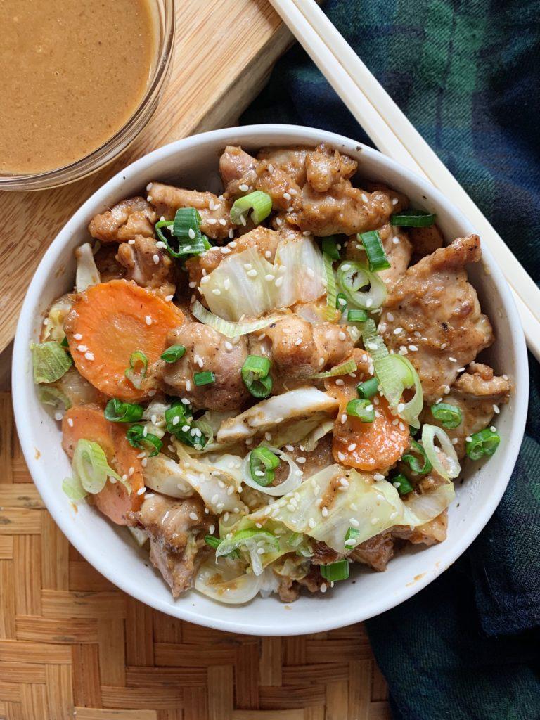 Cashew Butter Chicken Stir Fry