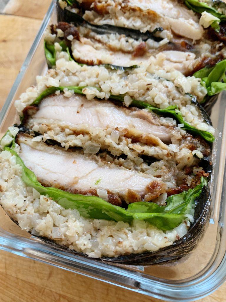chicken katsu onigirazu
