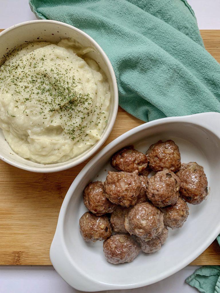instant pot garlic cauliflower mash