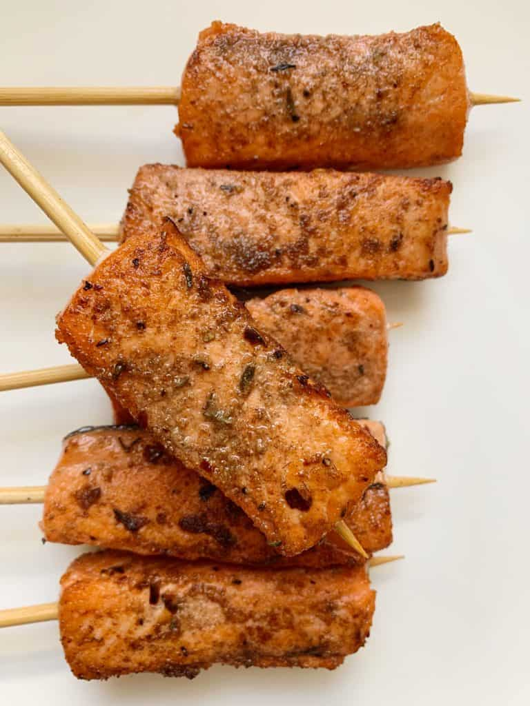 salmon satay skewers