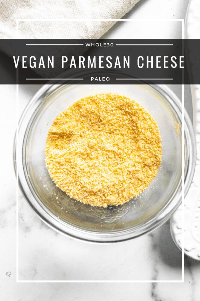 vegan parmesan cheese in a jar