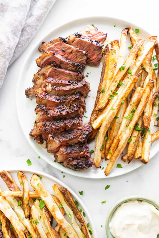 Steak Frites on a plate