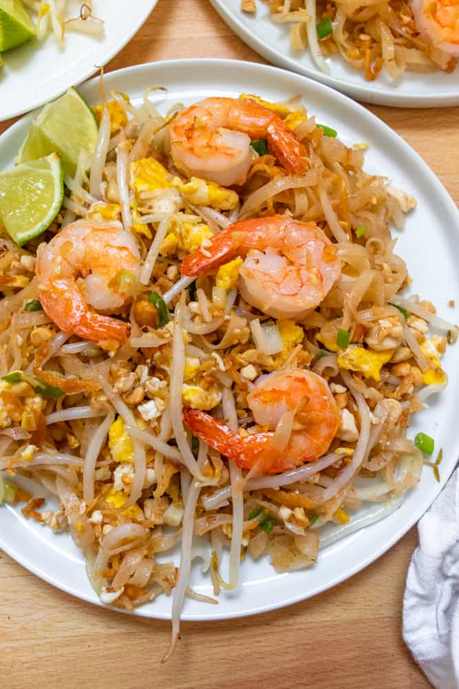 plated authentic pad thai