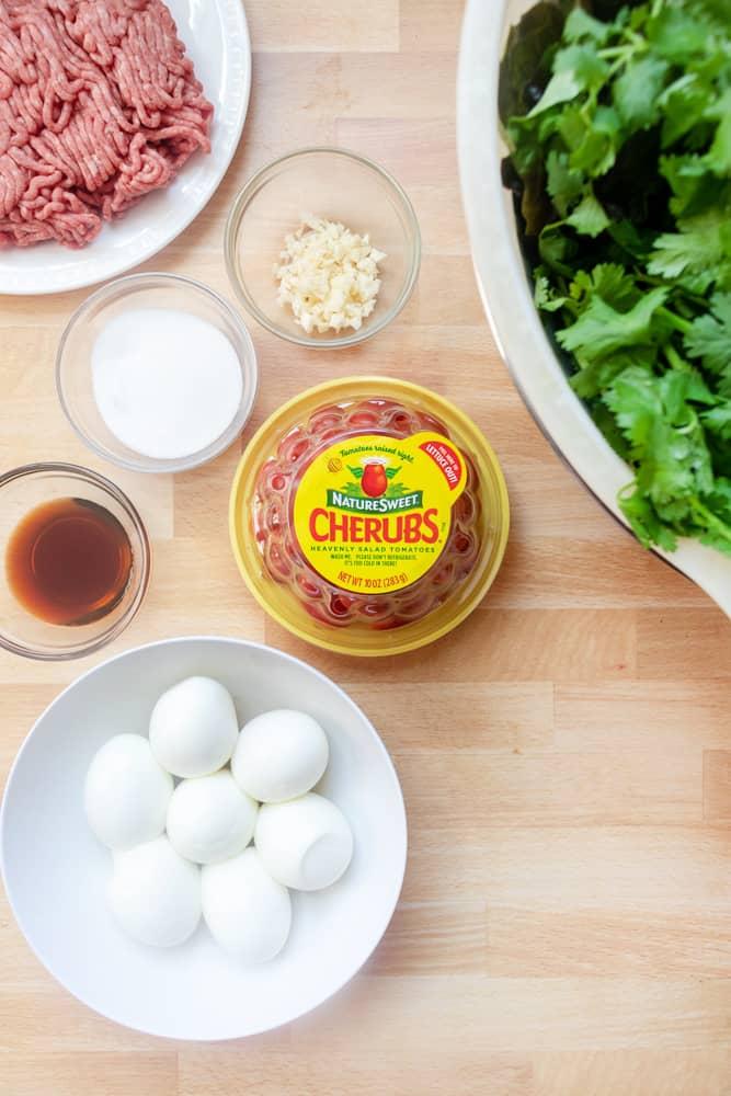 ingredients for yum salad (lao salad)